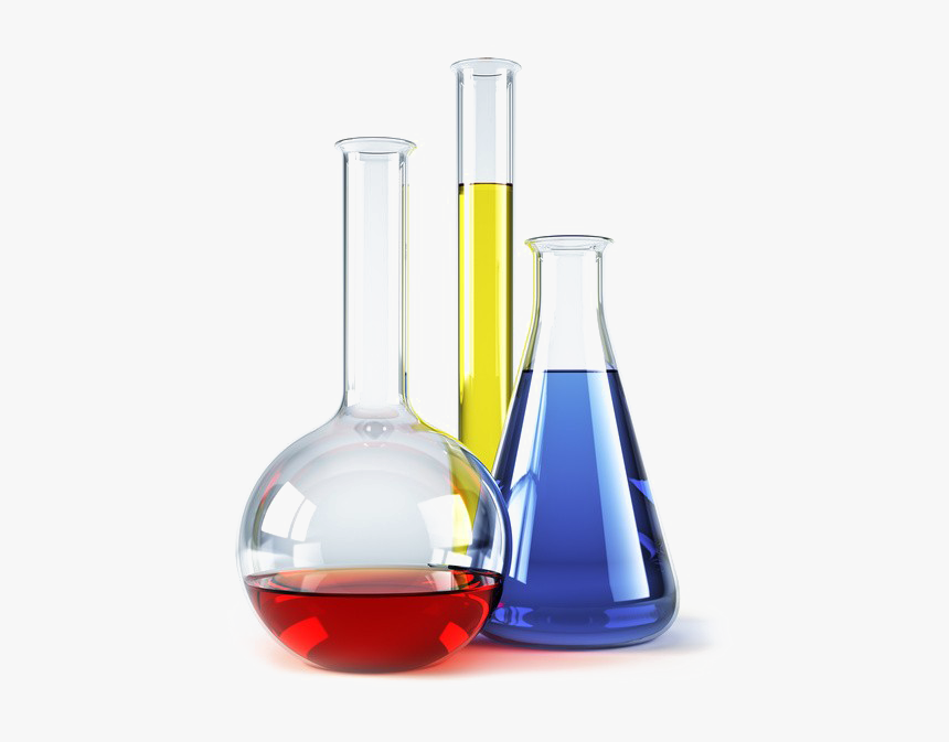 Science Lab Transparent Image - Beakers And Test Tubes, HD Png Download, Free Download