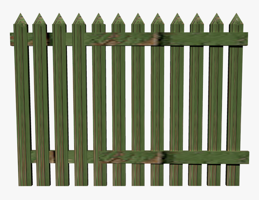 Fence Wood Paling Free Picture - Background Png Green Fence Transparent, Png Download, Free Download