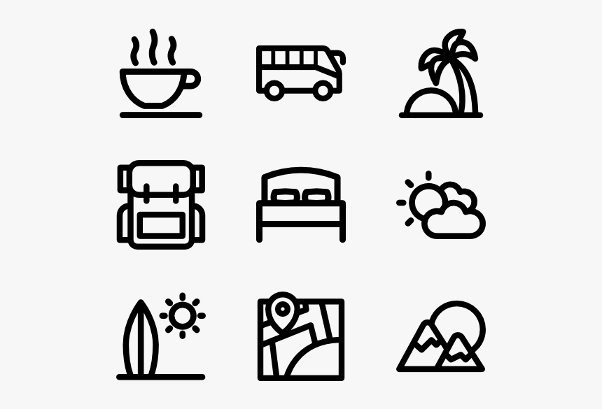 Linear Travel And Tourism Hobbies Icons Png Transparent Png Kindpng