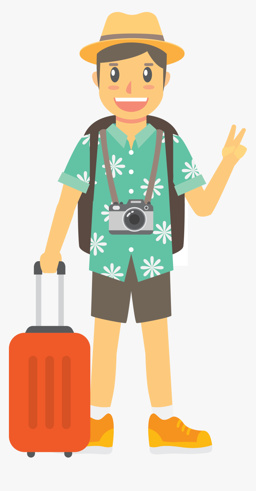 Travel By Euclidean Vector Traveling Sea The Clipart - Tourists Icon, HD Png Download, Free Download