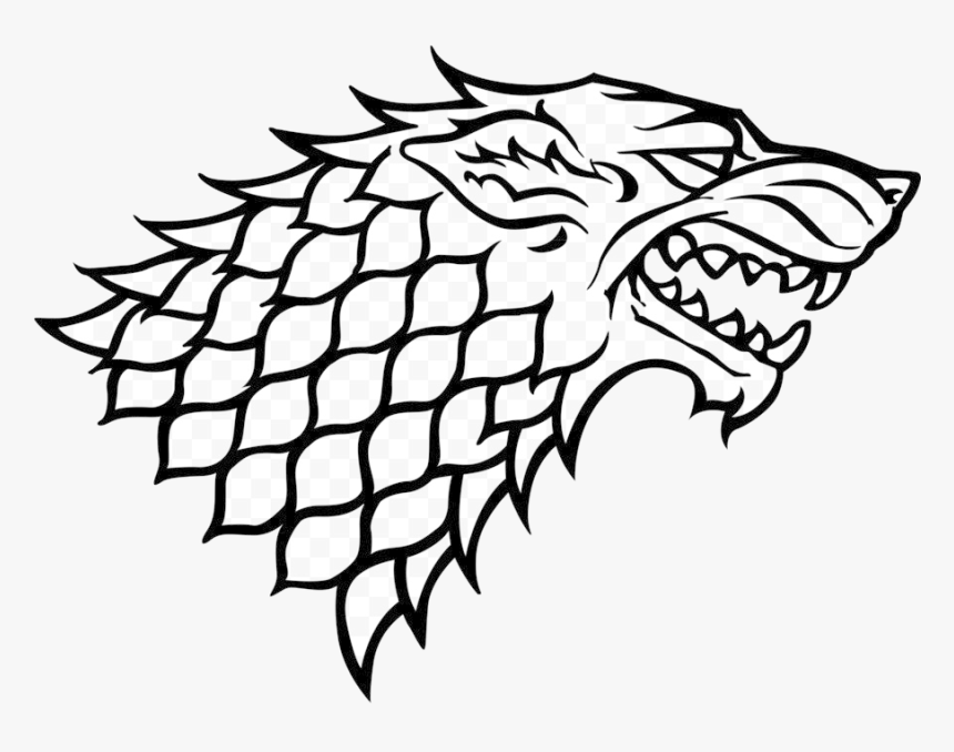 Game Of Thrones Stark Sigil Clipart Daenerys Targaryen - Stark Logo, HD Png Download, Free Download