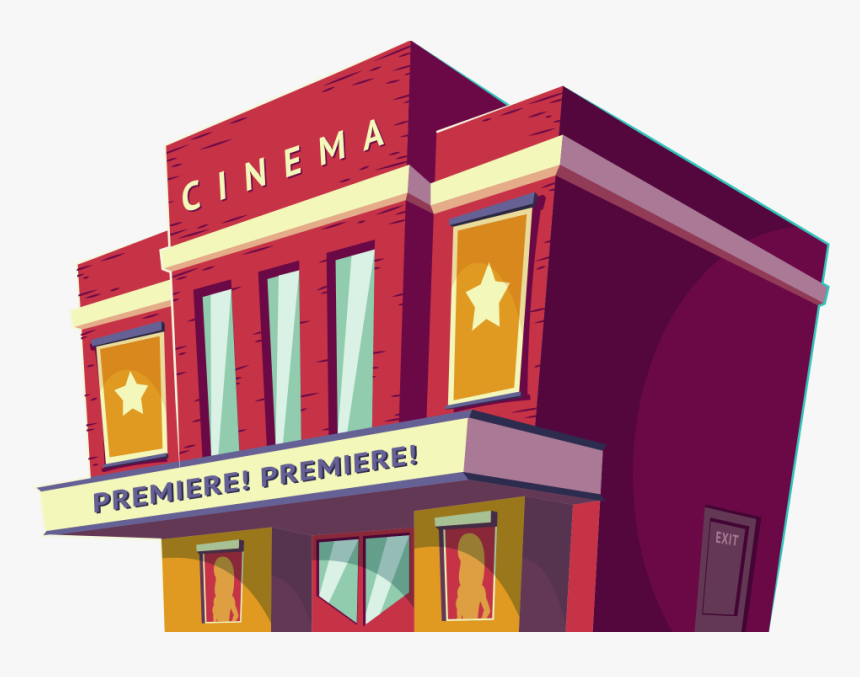 Cinema Hall Image Png Free Download Searchpng - Isometric Buildings Cinema, Transparent Png, Free Download