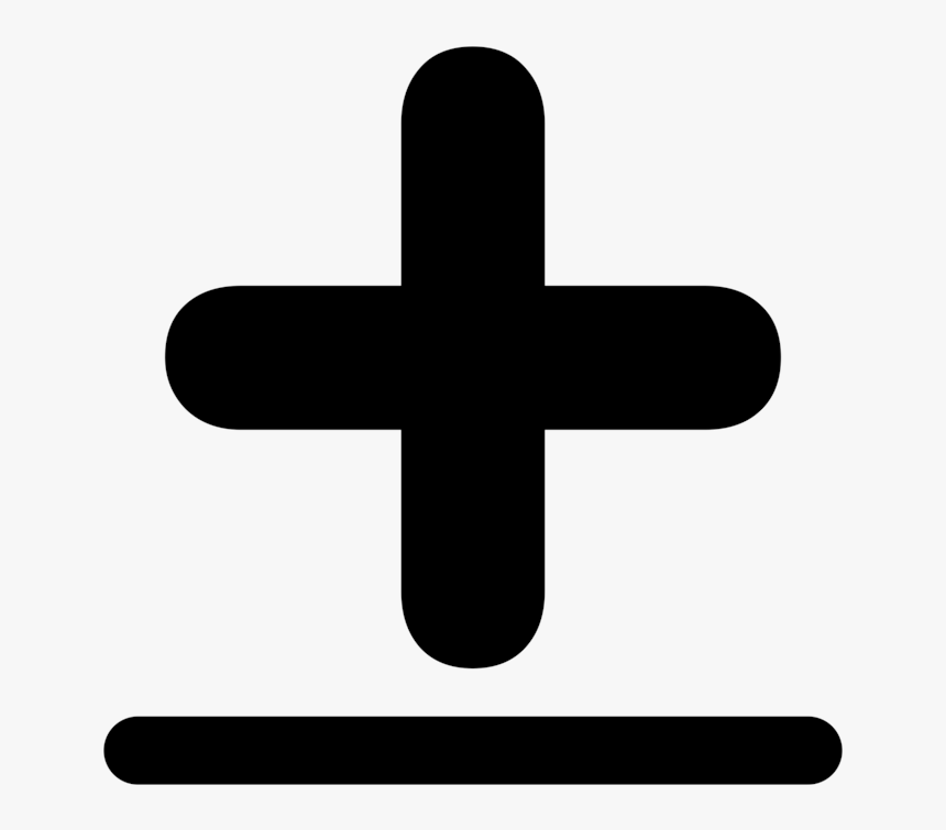 Plus Sign Vector Minus Symbol And Signs Computer Transparent - Plus Minus  Sign, HD Png Download - kindpng