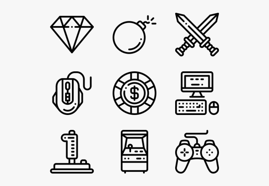 Gaming - Email Phone Address Icons, HD Png Download, Free Download
