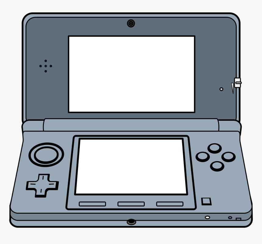 Handheld 3d Game System Clip Arts - Game Console Clipart, HD Png Download, Free Download