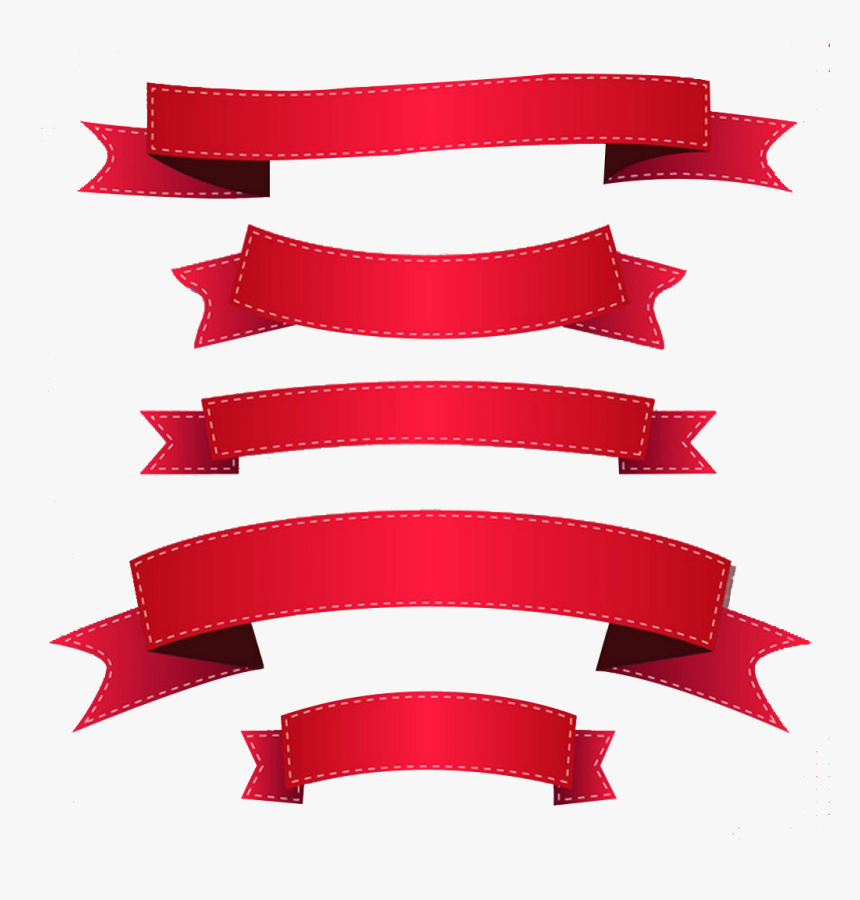 Ribbon Banner Clip Art Png Ribbon Vector Free- - Red Ribbon Vector Png, Transparent Png, Free Download
