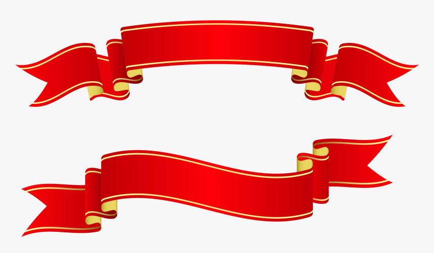 Craft Banner Templates - Christmas Ribbon Banner, HD Png Download, Free Download