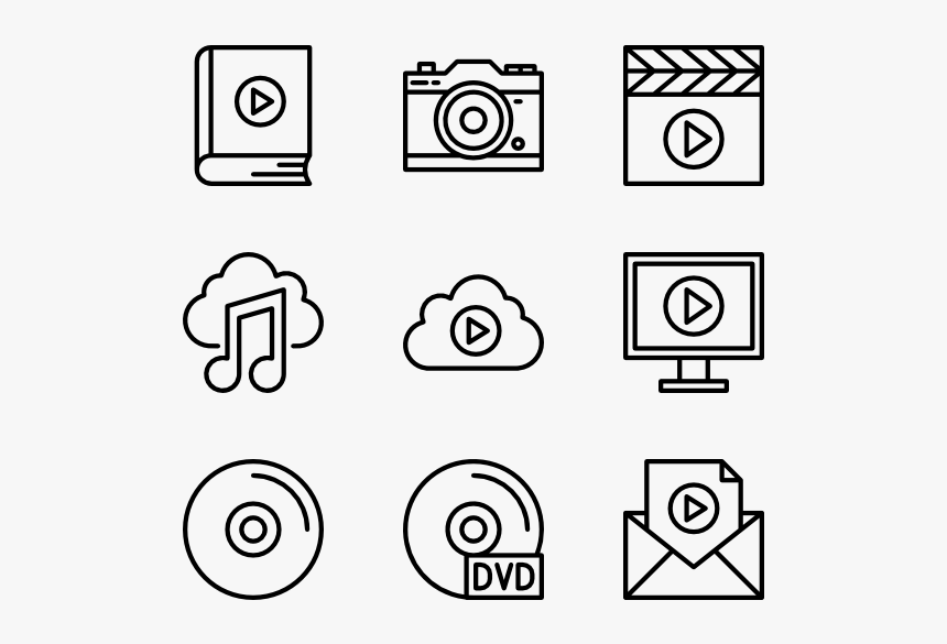 Multimedia - Curriculum Vitae Icons Png, Transparent Png, Free Download