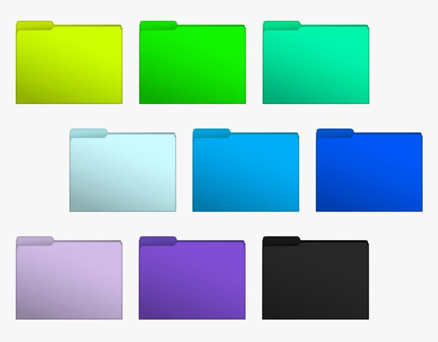 13 Color Folder Icons Windows 8 Images Color Folder - Colored Mac Folder Icon, HD Png Download, Free Download