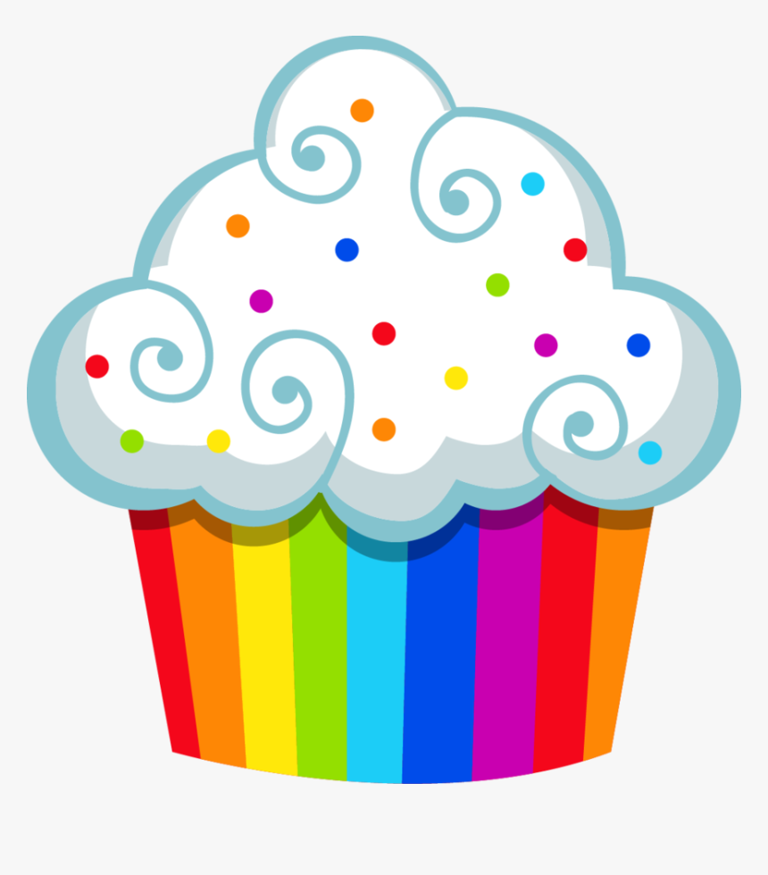 Cupcakes Clipart Colored Cupcake - Cupcake Clipart, HD Png Download, Free Download