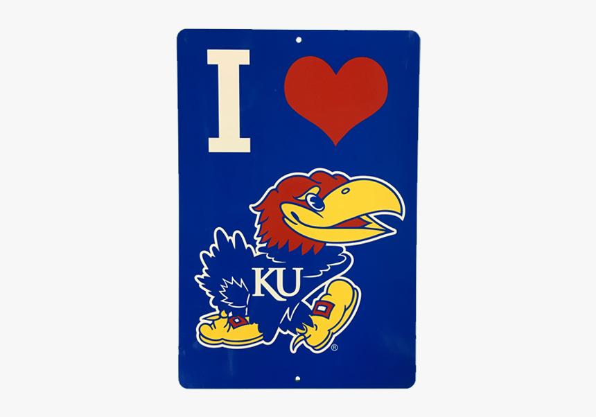 "Kansas University Jayhawks ""i Heart Jayhawk - Kansas Jayhawks, HD Png Download, Free Download"
