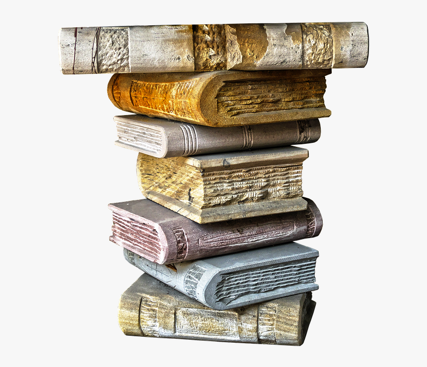 Books, Book Stack, Ceramic, Capital, Stacked, Pillar, - Ceramic Stack Of Books, HD Png Download, Free Download
