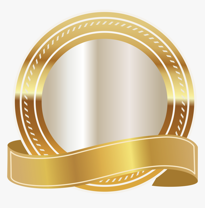 Round Ribbon Png - Transparent Background Gold Ribbon, Png Download, Free Download