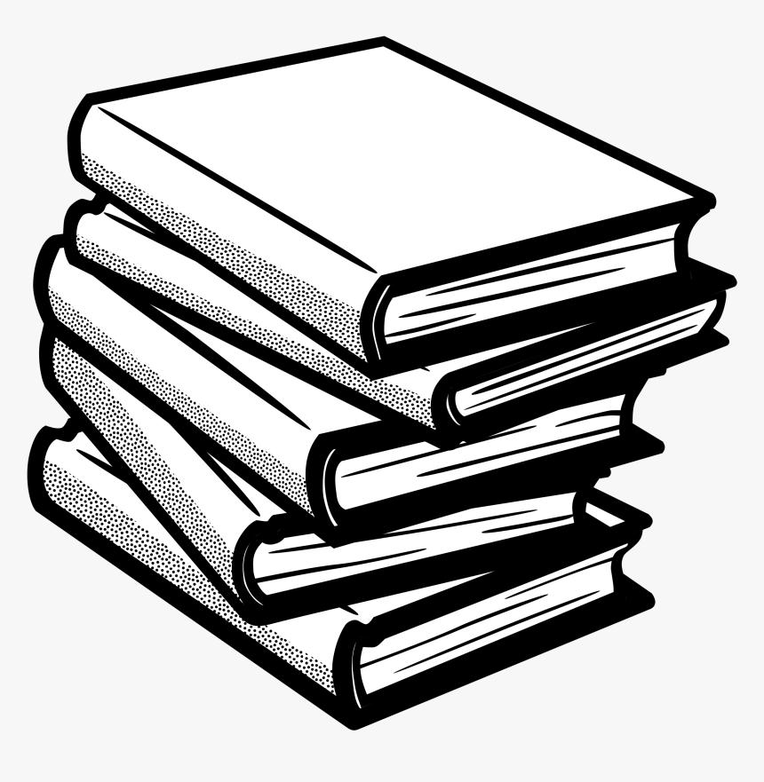 Clip Art Clipart Book Black And White - Books Black And White, HD Png Download, Free Download