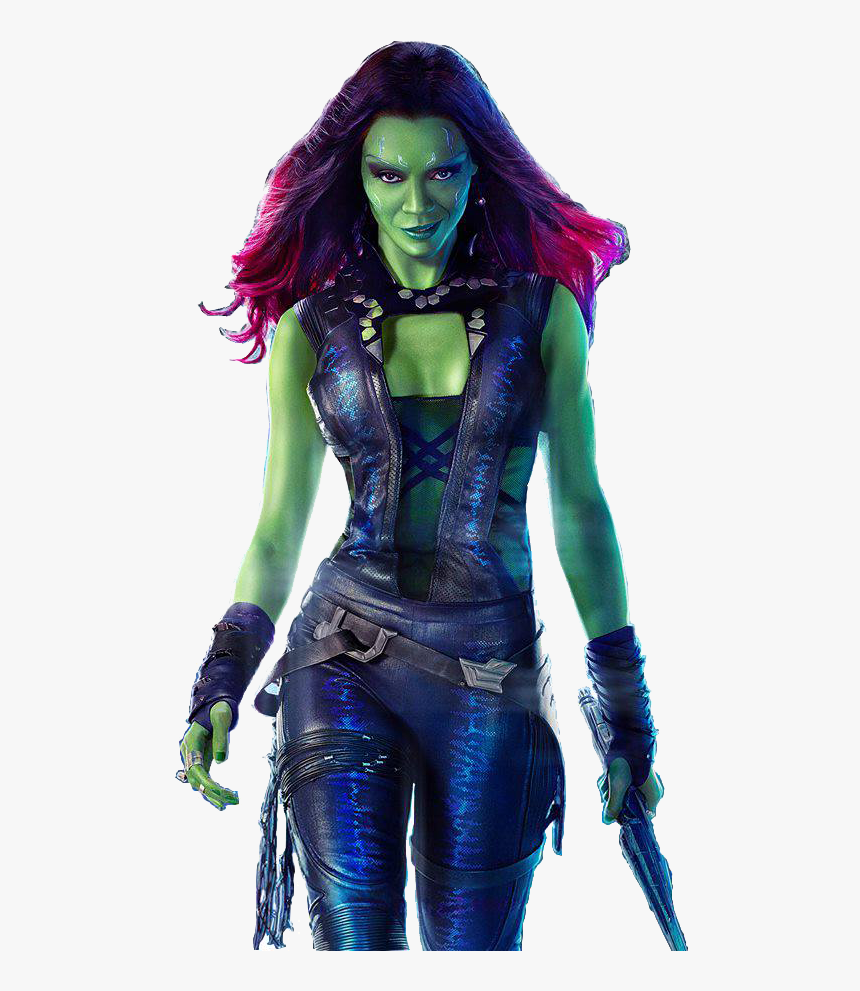 Zoe Saldana Sexy Gamora Hd Png Download Kindpng
