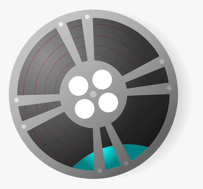 Video Film Reel Svg Clip Arts - Film Reel Clip Art, HD Png Download, Free Download