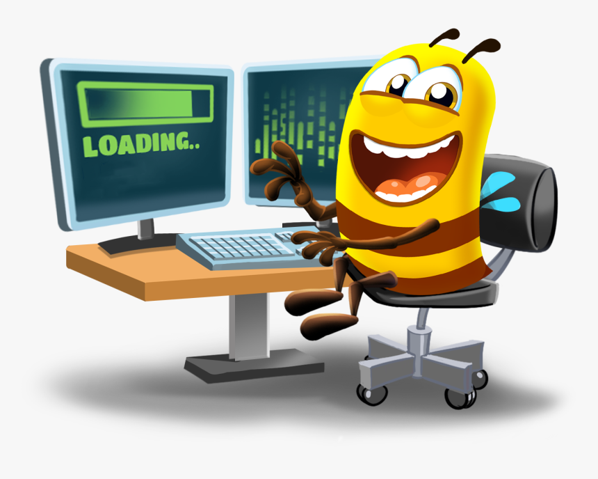 Human - Man Working On Computer Clipart, HD Png Download - kindpng