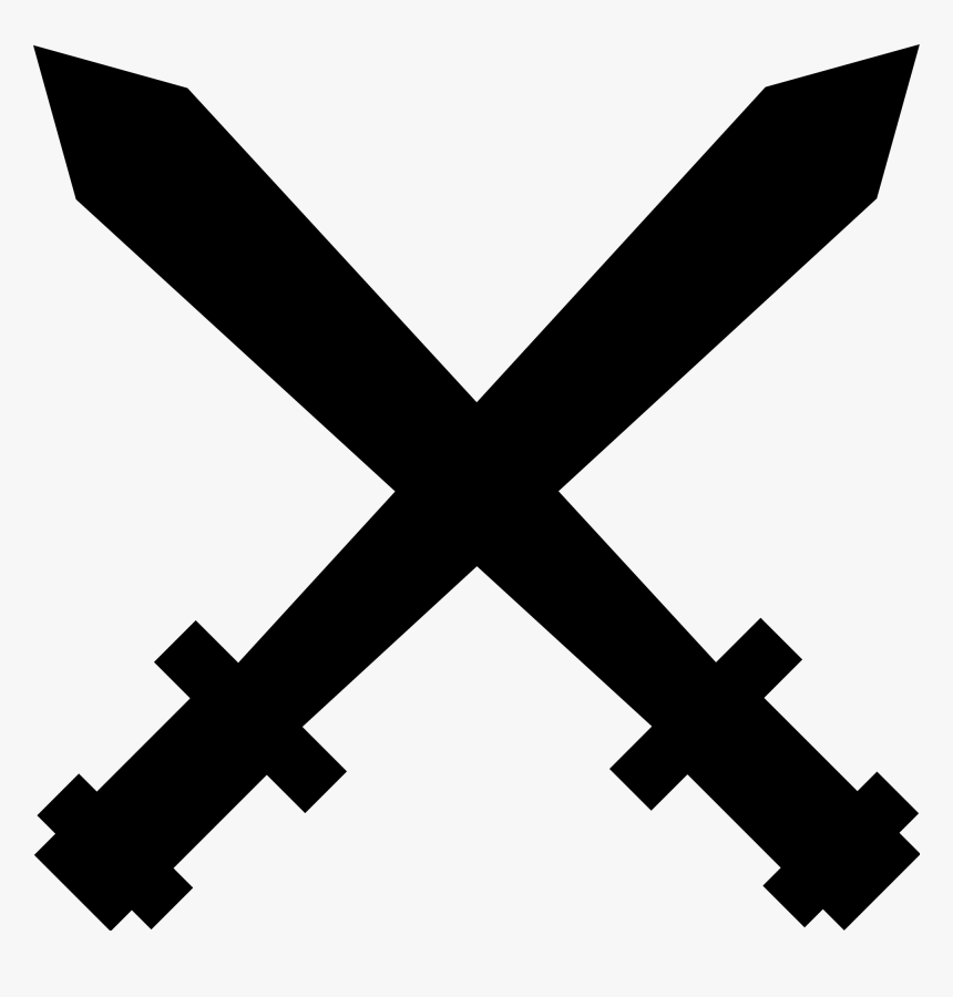 Two Swords Crossed Png Clipart , Png Download - Cross, Transparent Png, Free Download