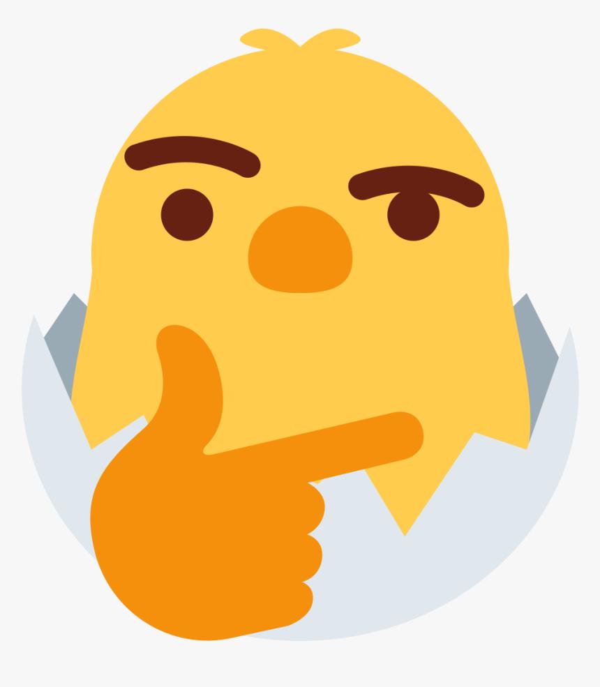 Chicken Emoji Png - Thinking Emoji Discord Meme Png, Transparent Png, Free Download