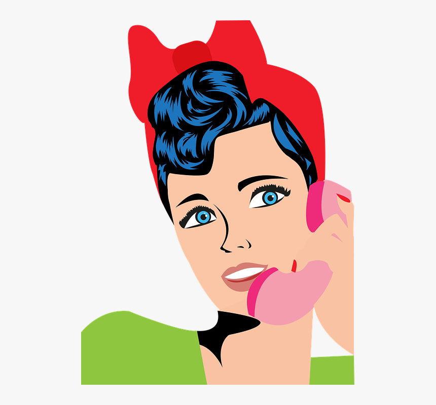 Pop Art, Woman, Phone, Crate, The Framework, Harmony - You A Phone Addict, HD Png Download, Free Download