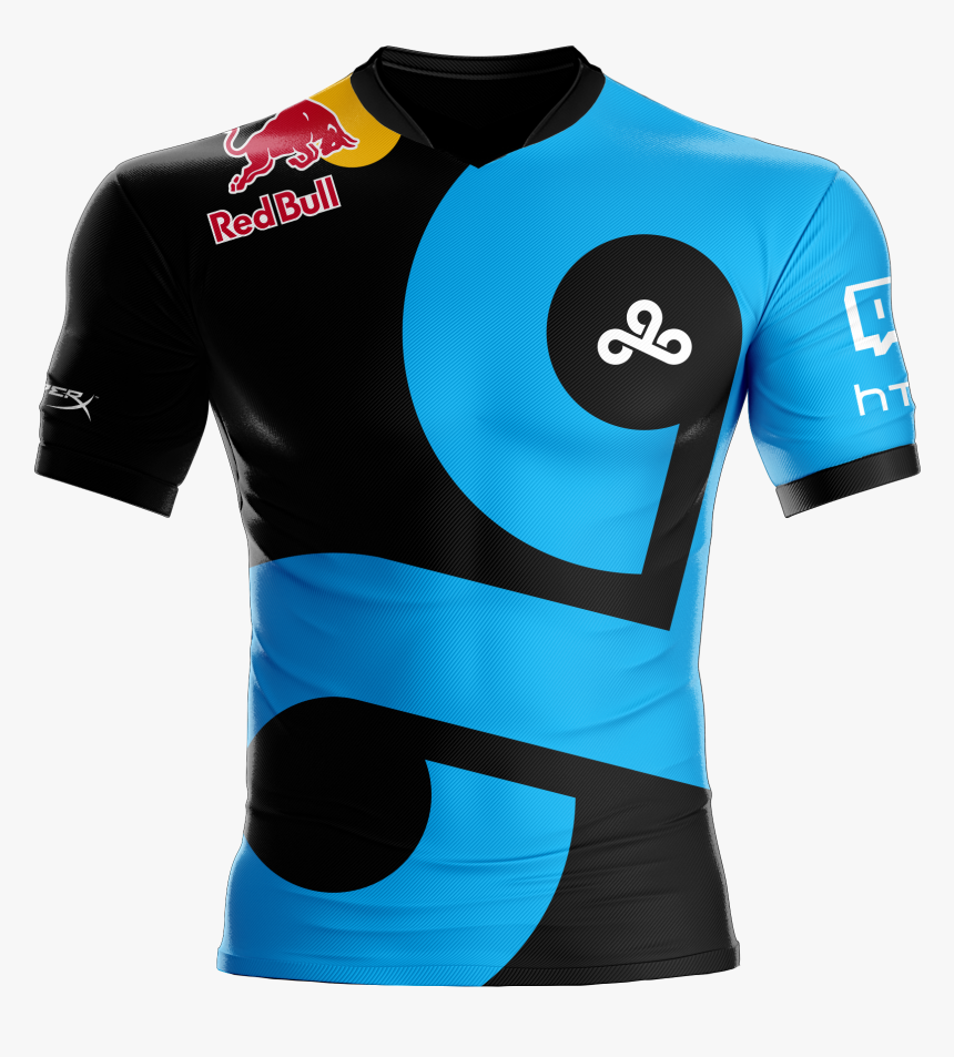 A Mockup Of A Cloud9 Jersey Featuring The Red Bull - Cloud 9 Csgo Jersey 2019, HD Png Download, Free Download