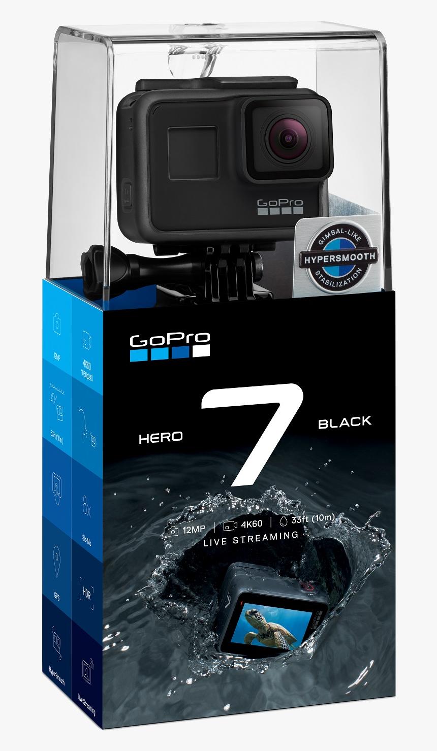 Camara Gopro Hero 7 Black 12mp 4k60 33ft Live Streaming Hd Png