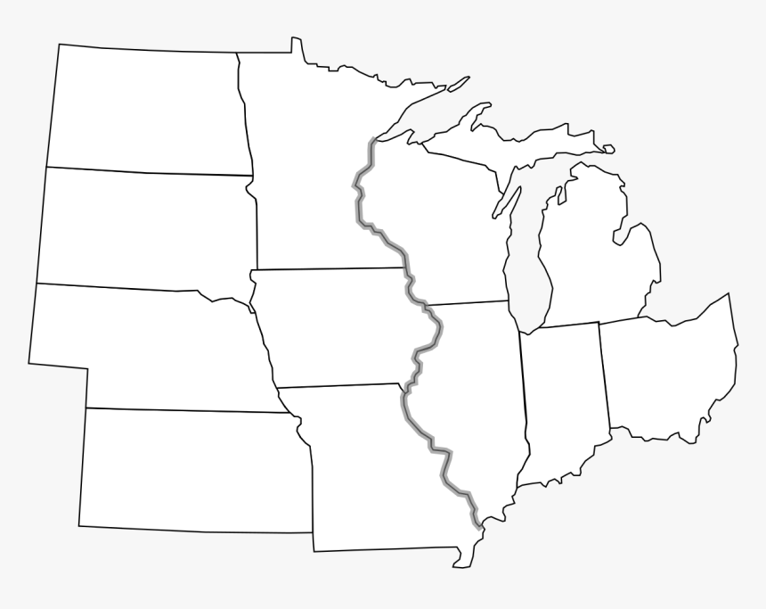 North Central States Blank Map, HD Png Download, Free Download