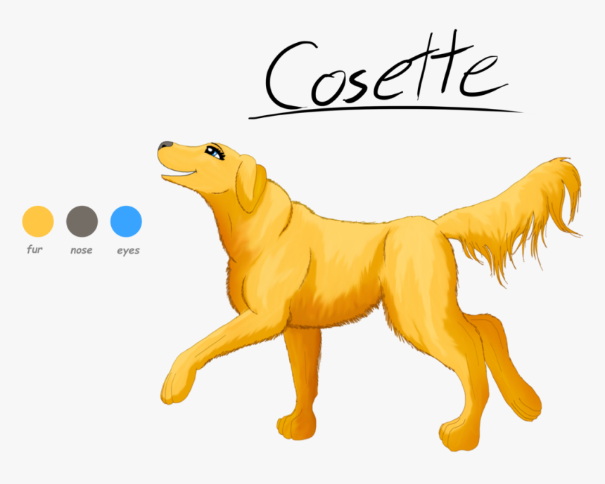 Drawn Golden Retriever Anime - Anime Golden Retriever, HD Png Download, Free Download