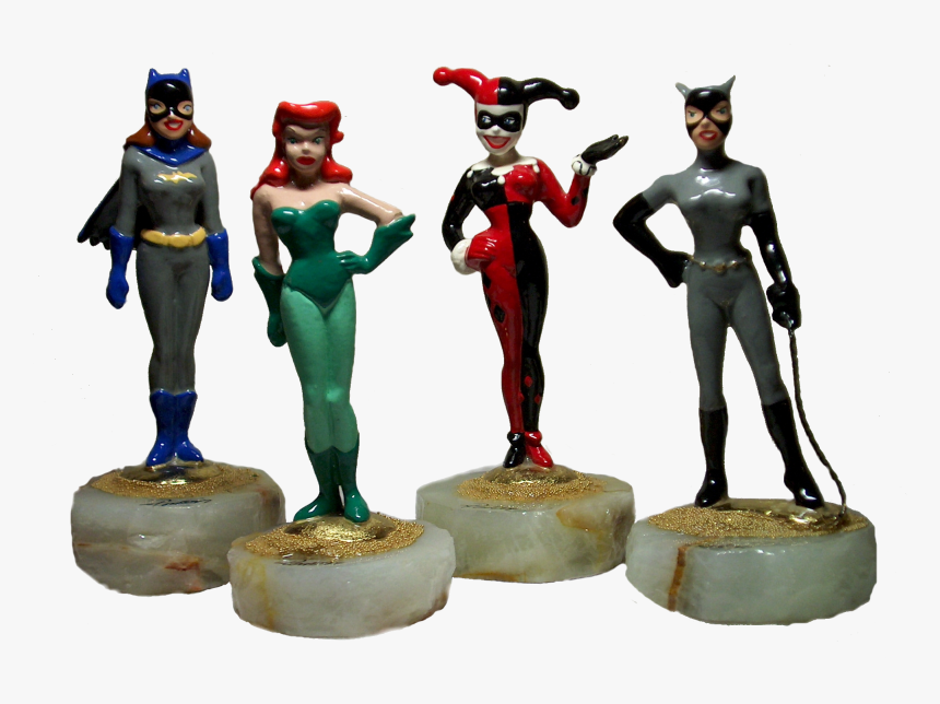 Dc Comics Collectible Figurines Set With Batgirl, Poison - Figurine, HD Png Download, Free Download