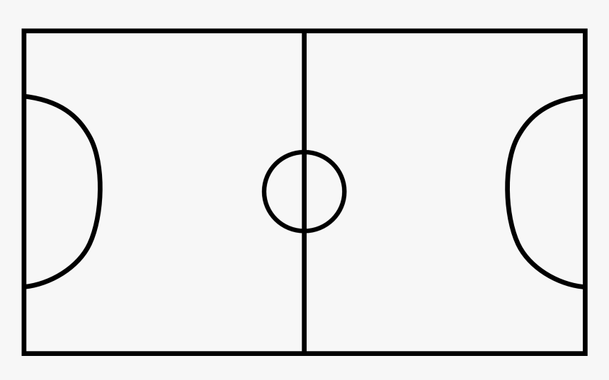 Goal Vector Football Court - Soccer Field Lines Vector, HD Png Download, Free Download