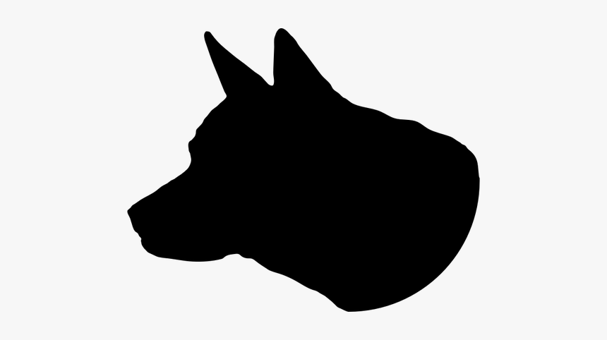 Dog Head Silhouette - Dog Head Clip Png, Transparent Png, Free Download