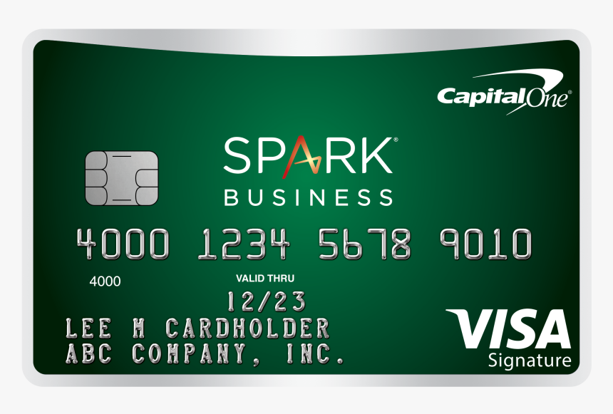 Green Credit Card With Capital One Spark Business Branding - Capital One Spark, HD Png Download, Free Download
