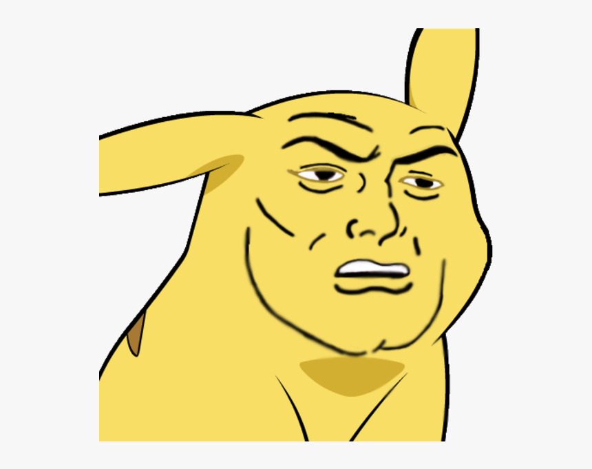 Give Pikachu A Face Pikachu Transparent Meme Hd Png Download