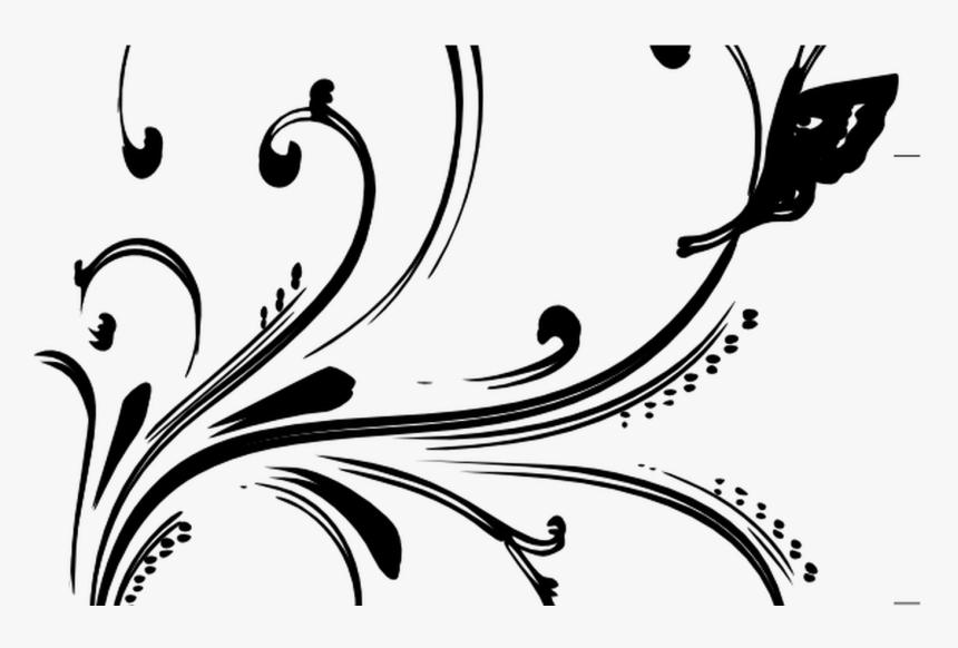 Black White Images Flowers Hanslodge Cliparts - Gold Floral Border Design Png, Transparent Png, Free Download