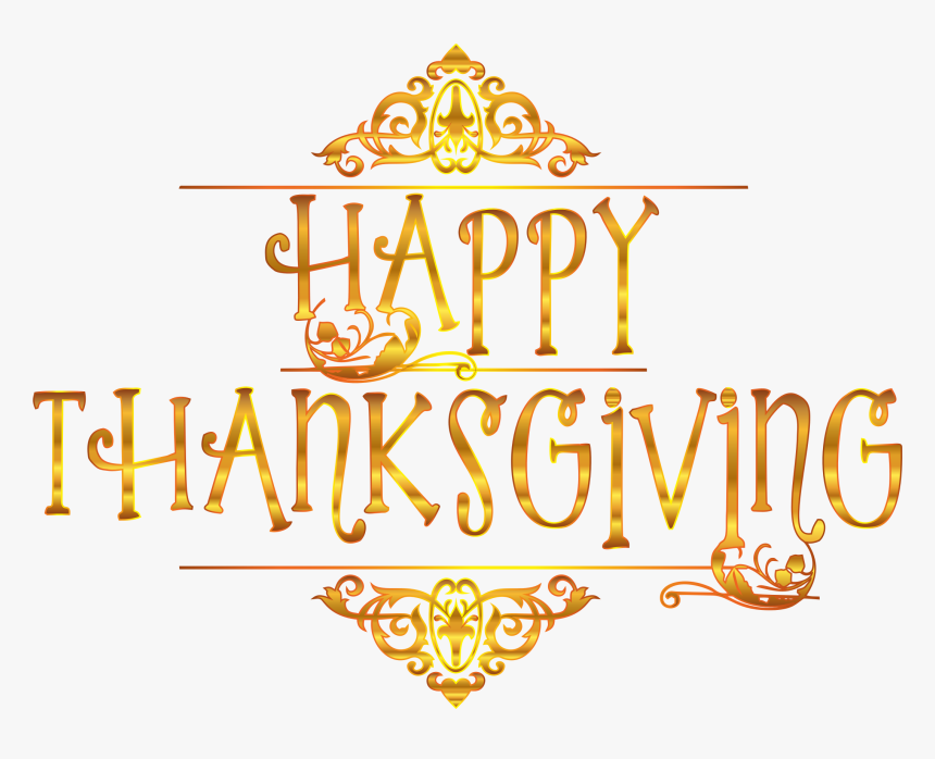 Thanksgiving Holiday Presidents - Transparent Background Happy Thanksgiving Clip Art, HD Png Download, Free Download