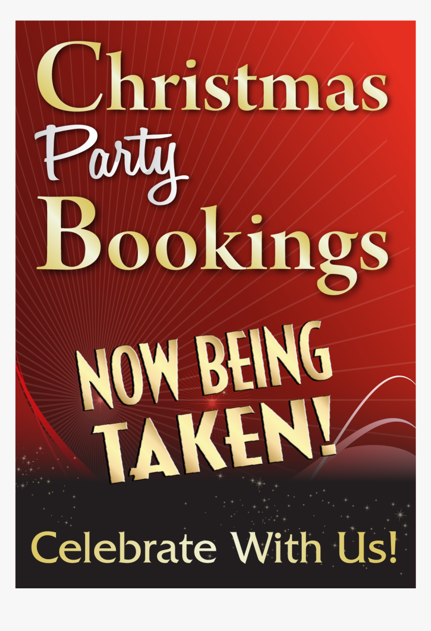 "Christmas Party Booking Poster""  Title=""christmas Party - Christmas Party Booking Posters, HD Png Download, Free Download"
