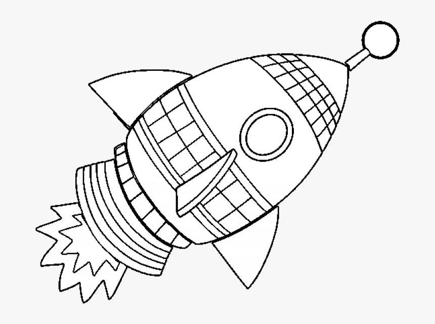 Rocket Ship Clipart Coloring Png Transparent Png Kindpng