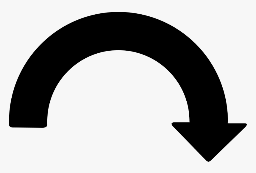 Curved Arrow Pointing Down Png, Transparent Png, Free Download