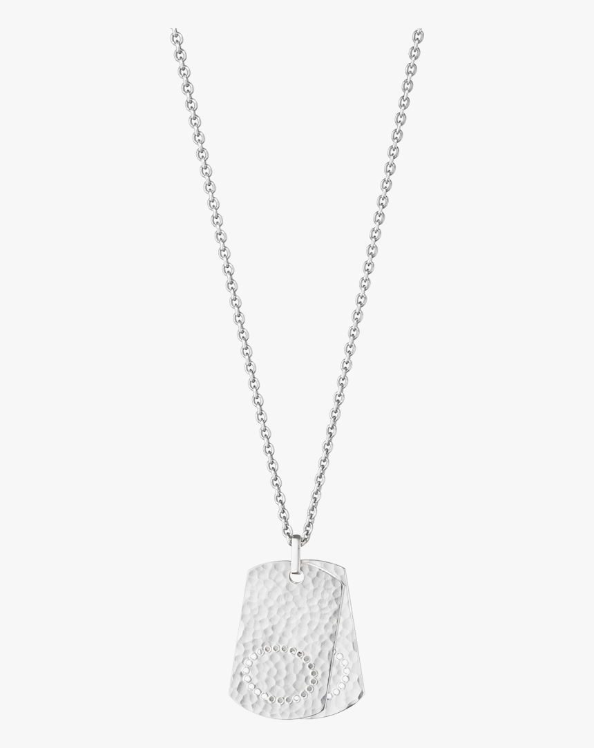 Georg Jensen Smithy Sterling Silver Mens Dog Tag Pendant - Locket, HD Png Download, Free Download