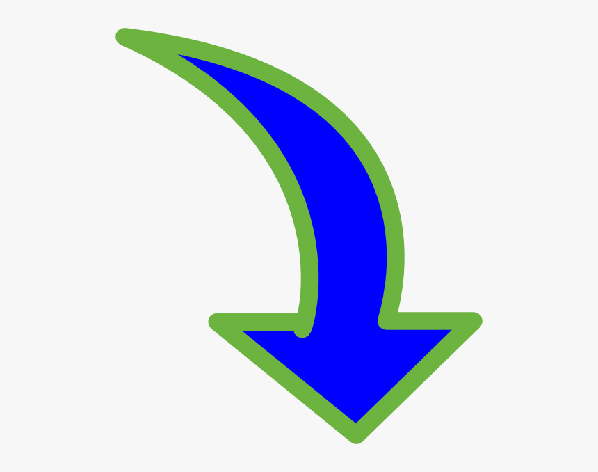 Curved Arrow Pointing Down Clipart , Png Download - Clipart Arrow Pointing Down, Transparent Png, Free Download