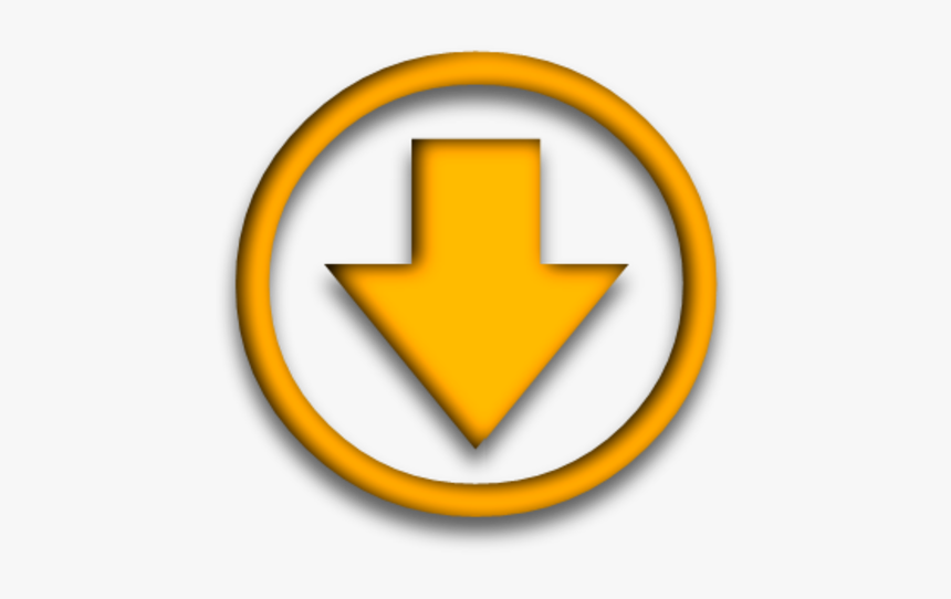 Arrow Pointing Down Yellow, HD Png Download, Free Download
