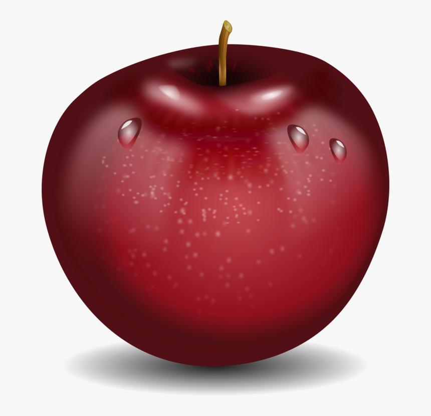 Christmas Ornament Apple Mcintosh Desenho De Fruta Maca Colorido