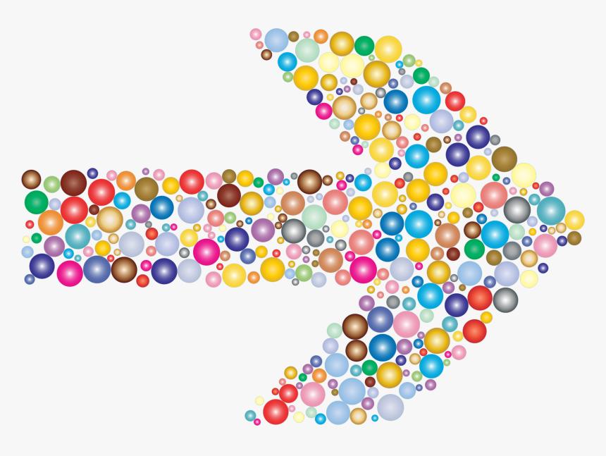 Colorful Circles Arrow 2 Clip Arts - Colorful Arrow Clipart, HD Png Download, Free Download