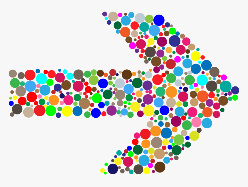 Colorful Circles Arrow Clip Arts - Colorful Arrow Clipart Free, HD Png Download, Free Download