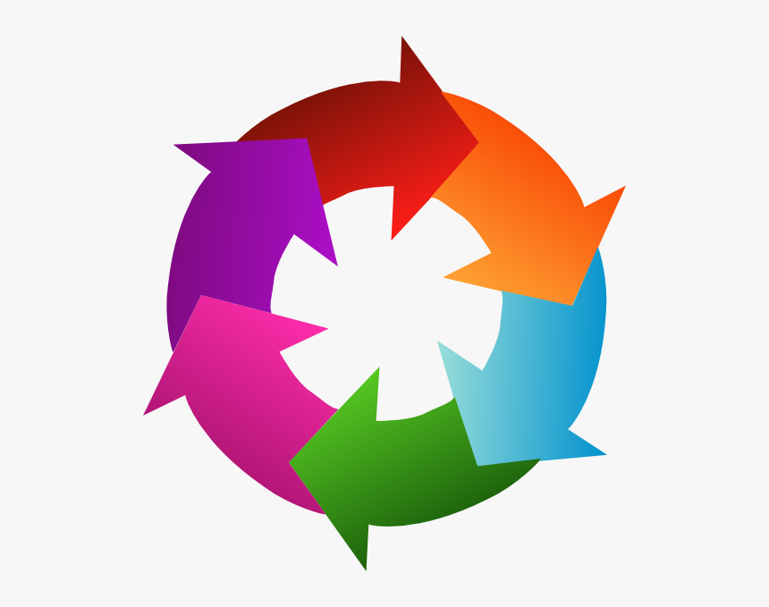Circle With 6 Arrows, HD Png Download, Free Download