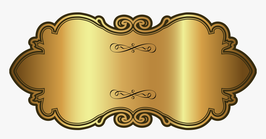 Golden Luxury Label Template Png Clipart Image - Transparent Background Label Clipart, Png Download, Free Download