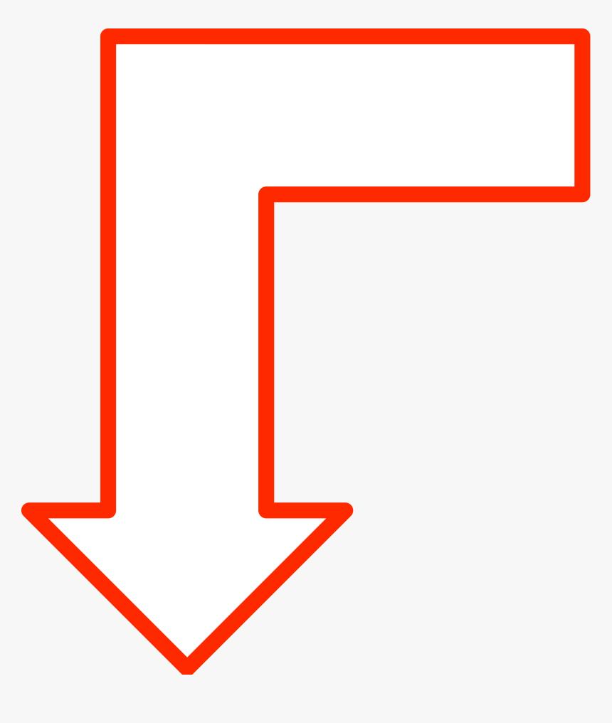 L-shaped Arrow Set 10 Clip Arts - Bilder Pfeil Um Die Ecke Rot, HD Png Download, Free Download