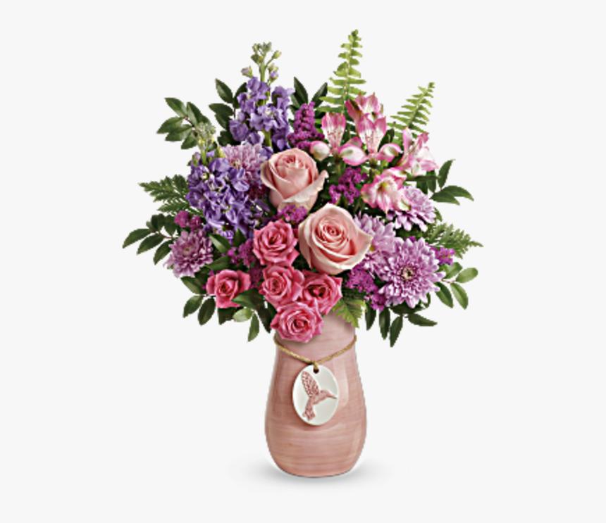 Winged Beauty Bouquet By Teleflora - Teleflora Winged Beauty Bouquet, HD Png Download, Free Download