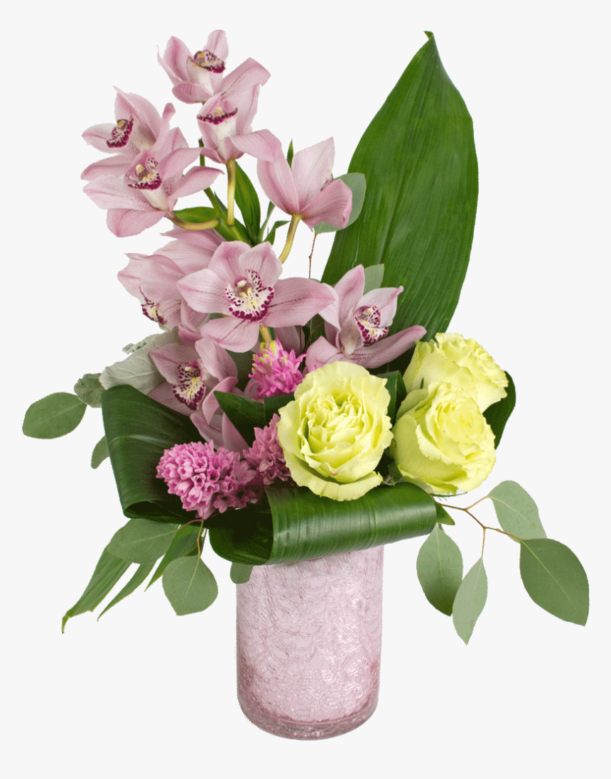 Transparent Beautiful Flower Vase With Flowers Png - Bouquet, Png Download, Free Download