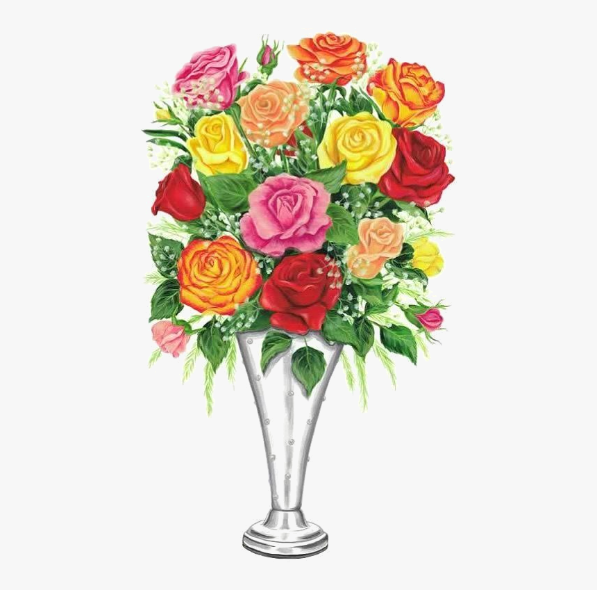 Transparent Beautiful Flower Vase With Flowers Png Rose Png Download Kindpng,What Color Should I Paint My Ceiling Beams